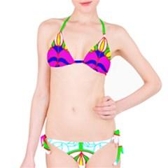 Pattern Template Stained Glass Bikini Set