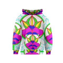 Pattern Template Stained Glass Kids  Pullover Hoodie