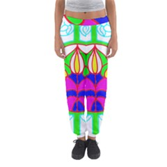 Pattern Template Stained Glass Women s Jogger Sweatpants