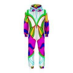 Pattern Template Stained Glass Hooded Jumpsuit (Kids)