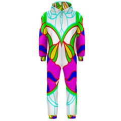 Pattern Template Stained Glass Hooded Jumpsuit (Men)