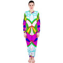 Pattern Template Stained Glass OnePiece Jumpsuit (Ladies)