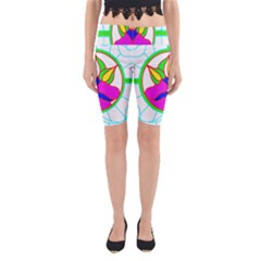 Pattern Template Stained Glass Yoga Cropped Leggings