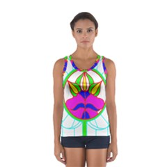 Pattern Template Stained Glass Women s Sport Tank Top