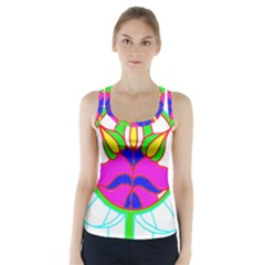 Pattern Template Stained Glass Racer Back Sports Top