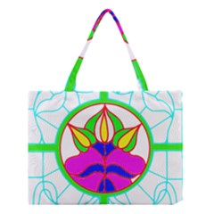 Pattern Template Stained Glass Medium Tote Bag