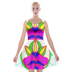 Pattern Template Stained Glass Velvet Skater Dress