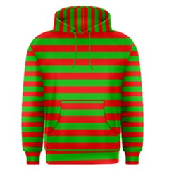 Pattern Lines Red Green Men s Pullover Hoodie