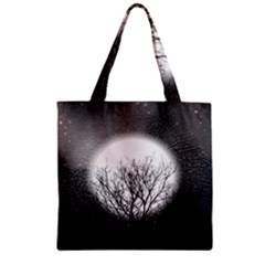 Starry Sky Zipper Grocery Tote Bag