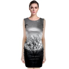 Starry Sky Classic Sleeveless Midi Dress