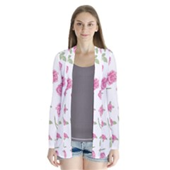 (printed Pattern) Drape Collar Cardigan