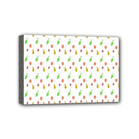 Fruit Pattern Vector Background Mini Canvas 6  x 4