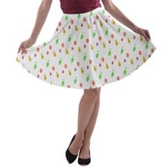 Fruit Pattern Vector Background A-line Skater Skirt