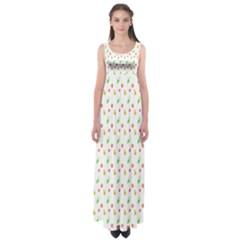 Fruit Pattern Vector Background Empire Waist Maxi Dress