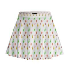Fruit Pattern Vector Background Mini Flare Skirt