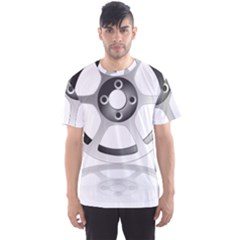 Car Wheel Chrome Rim Men s Sport Mesh Tee