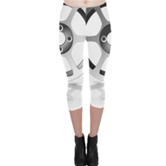 Car Wheel Chrome Rim Capri Leggings