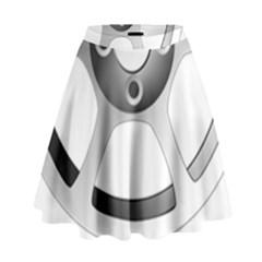 Car Wheel Chrome Rim High Waist Skirt