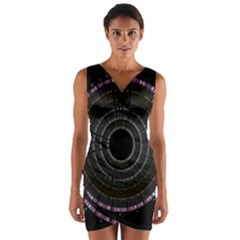 Circos Comp Inv Wrap Front Bodycon Dress