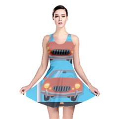 Semaphore Car Road City Traffic Reversible Skater Dress