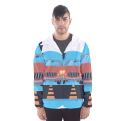 Semaphore Car Road City Traffic Hooded Wind Breaker (Men)