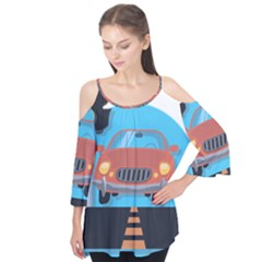 Semaphore Car Road City Traffic Flutter Tees