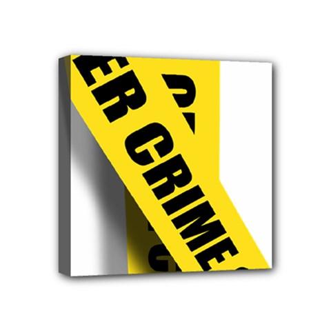 Internet Crime Cyber Criminal Mini Canvas 4  x 4