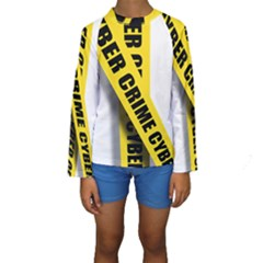 Internet Crime Cyber Criminal Kids  Long Sleeve Swimwear