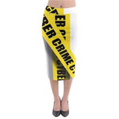 Internet Crime Cyber Criminal Midi Pencil Skirt