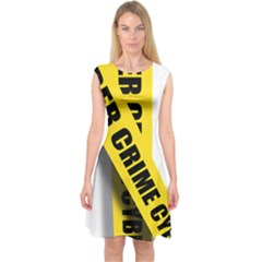 Internet Crime Cyber Criminal Capsleeve Midi Dress