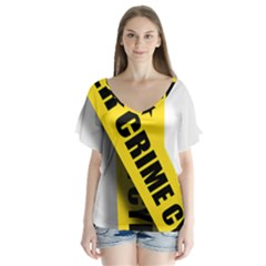 Internet Crime Cyber Criminal Flutter Sleeve Top