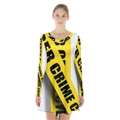 Internet Crime Cyber Criminal Long Sleeve Velvet V Neck Dress