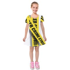 Internet Crime Cyber Criminal Kids  Short Sleeve Velvet Dress