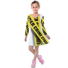 Internet Crime Cyber Criminal Kids  Long Sleeve Velvet Dress