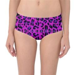 Pattern Design Textile Mid-Waist Bikini Bottoms