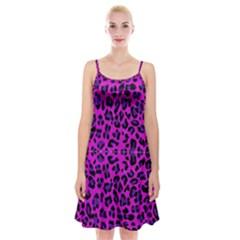 Pattern Design Textile Spaghetti Strap Velvet Dress