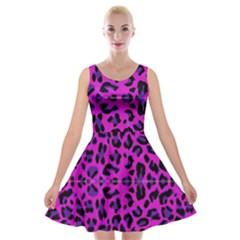 Pattern Design Textile Velvet Skater Dress