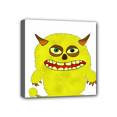 Monster Troll Halloween Shudder Mini Canvas 4  x 4