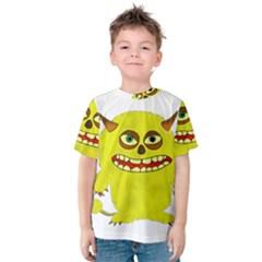 Monster Troll Halloween Shudder Kids  Cotton Tee