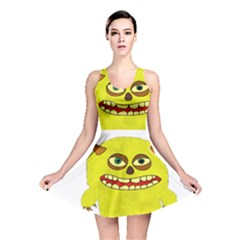 Monster Troll Halloween Shudder Reversible Skater Dress