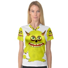 Monster Troll Halloween Shudder Women s V-Neck Sport Mesh Tee