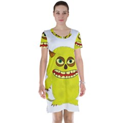 Monster Troll Halloween Shudder Short Sleeve Nightdress