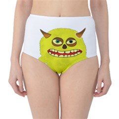 Monster Troll Halloween Shudder High-Waist Bikini Bottoms