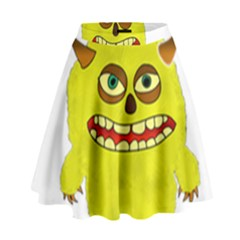 Monster Troll Halloween Shudder High Waist Skirt