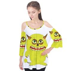 Monster Troll Halloween Shudder Flutter Tees