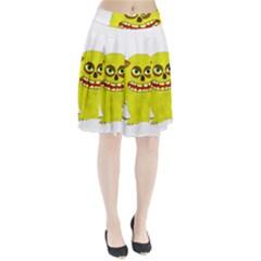 Monster Troll Halloween Shudder Pleated Skirt
