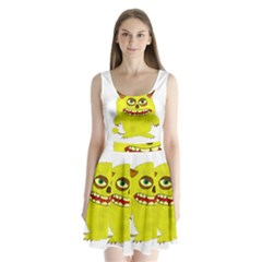 Monster Troll Halloween Shudder Split Back Mini Dress