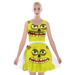 Monster Troll Halloween Shudder Velvet Skater Dress