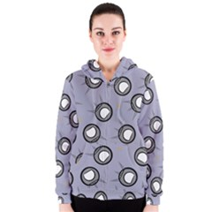 Rocket Ship Wallpaper Background Women s Zipper Hoodie