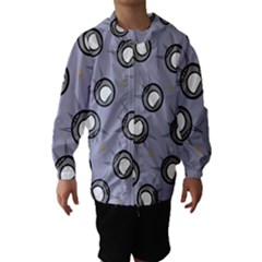 Rocket Ship Wallpaper Background Hooded Wind Breaker (Kids)